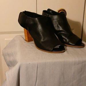 Massimo Peek-toe booties